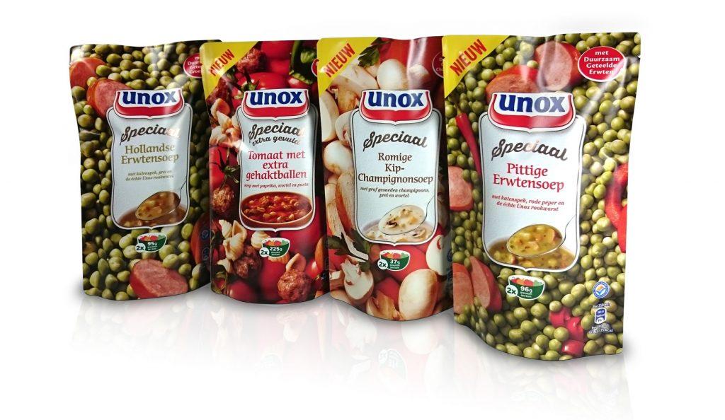 doypack mockup dummy packaging unox soep pouche amsterdam