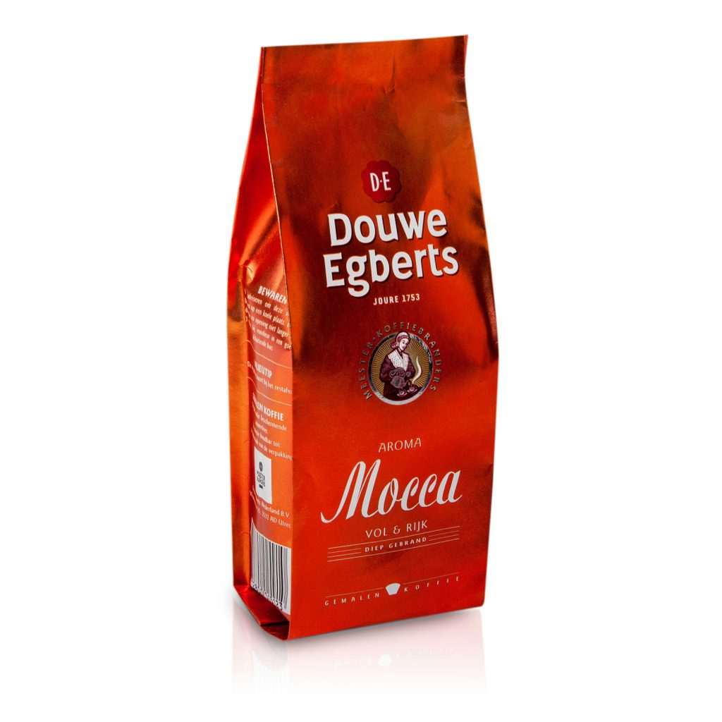 pouch mockup dummy packaging douwe egberts mocca amsterdam