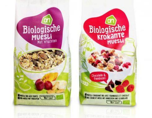 pouche mockup dummy packaging albert heijn biologische muesli nederland 2