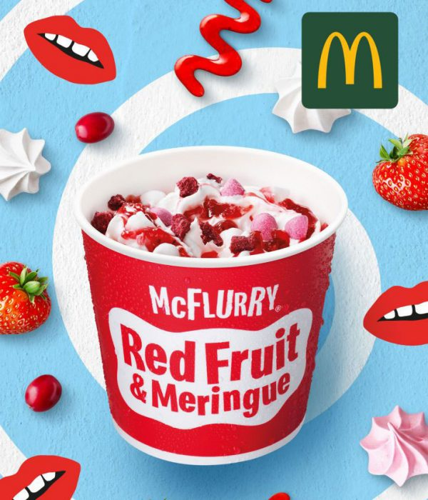 wikkel mockup dummy packaging mc donalds mc flurry red fruit